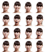 Multiple expressions — Stock fotografie