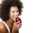 Holding a apple — Stock Photo