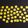 Yellow notes — Stock Photo