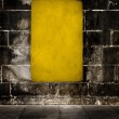 Yellow grunge background - Foto Stock