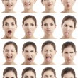 Multiple faces expressions - Foto Stock
