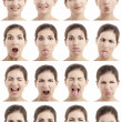Stock Photo: Multiple faces expressions