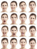 Flera ansikten uttryck — Stockfoto