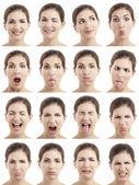 Várias expressões de rostos — Foto Stock