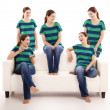 Stock Photo: Five twins sisters