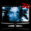 Stock Photo: 3D TV