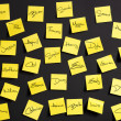 Yellow notes - Photo