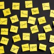 Yellow notes - Stock Photo
