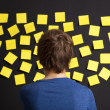 Looking to yellow reminders — Stock Photo