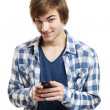 Stock Photo: Sending text messages
