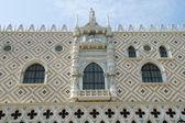 Facade of palace pazzia san marco — Stock Photo