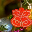 Red christmas ornament — Stock Photo #8917749