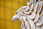 The close up of carving eagle — Stock Photo