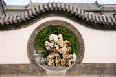 Circle entrance of Chinese garden — Stock Photo