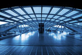 Architecture of modern train station — Stock Photo