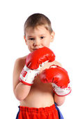 Boy boxer — Stock Photo