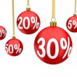 Christmas balls sale — Stock Photo