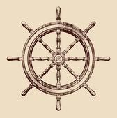 Roue de bateau — Vecteur