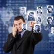 Stock Photo: Social network structure