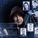 Hacker working — Stock Photo
