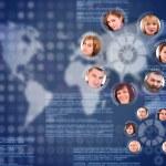 Social network circle — Stock Photo