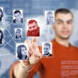 Social network structure — Stockfoto