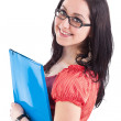 Young brunette student girl — Stock Photo