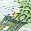 Stock Photo: 100 Euro banknotes