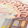 Stock Photo: 50 Euro banknotes
