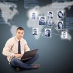 soziale Netzwerk-Konzept — Stockfoto