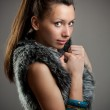 Girl in a fur coat — Stock Photo #10578462