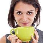 Frau mit einer Teetasse — Stockfoto #10578803