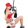 Female paintball player — Stock Photo #10578858