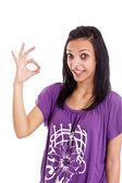 Woman gesturing — Stock Photo