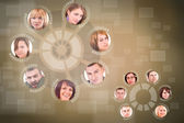 Social network circle — Stock Photo