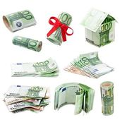 Collection of money — Stock Photo