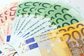 Fan made of euro paper currency — Stock Photo