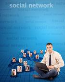 Concepto de red social — Foto de Stock