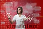 Virus-warnung-konzept — Stockfoto