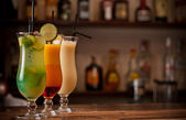 Three cocktails — Stock Photo