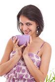 ženy drží pohár — Stock fotografie