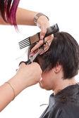 Hair cutting — Stock Photo