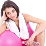 Женщина фитнес с водой — Стоковое фото #9202967