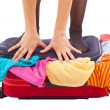 Woman suitcase — Stock Photo