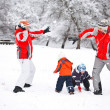 Family in snow — Stock Photo #9203255