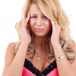Pretty young woman suffering — Stock Photo