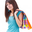 Beautiful shopping woman — Stock Photo #9203331
