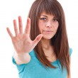 Girl showing her palm — Stock Photo