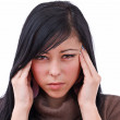 Young woman with severe headache — Stock Photo