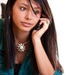 donna con un telefono cellulare — Foto Stock